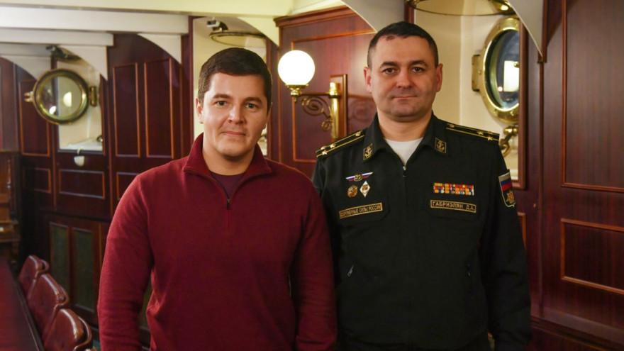 Дмитрий Артюхов обсудил с главой учебного центра ВМФ службу ямальцев на кораблях морфлота