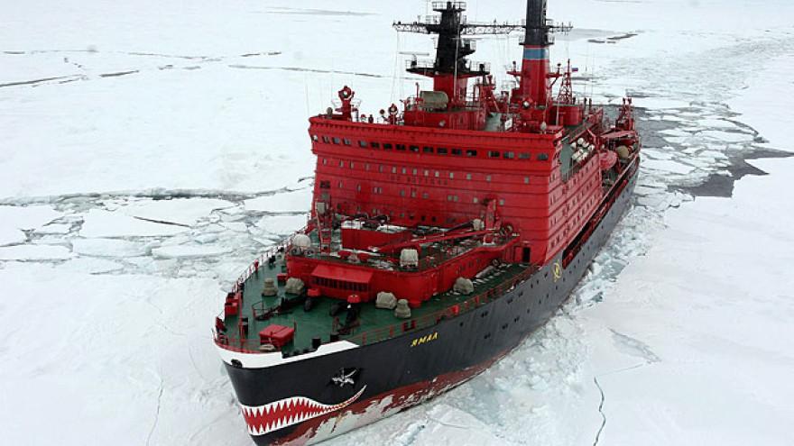 Атомный ледокол «Ямал» провел первый караван по Севморпути