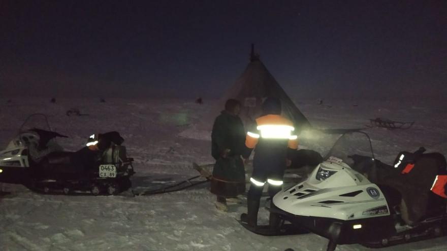 Ямальские спасатели помогли северянам, попавшим в беду в Новопортовской тундре