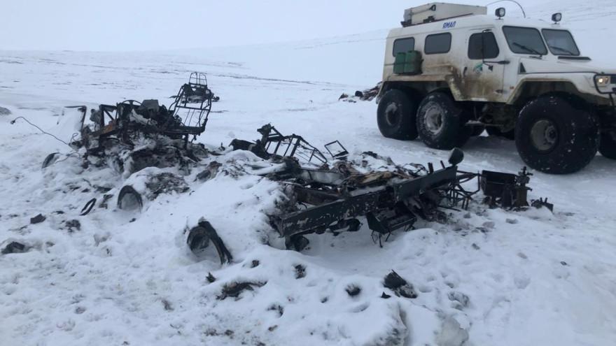 Сгорел «Трэкол»: спасатели несколько дней искали трех человек вПриуральской тундре