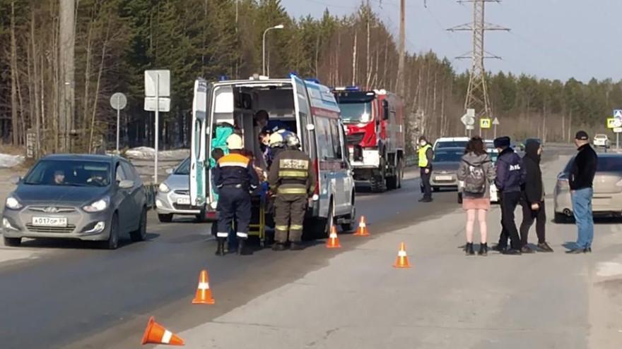 После ДТП на Ямале госпитализировали девушку-пешехода