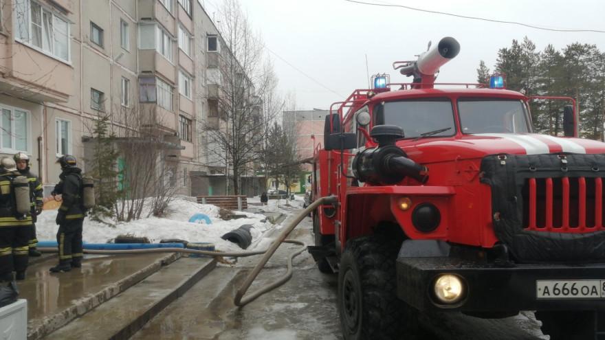 В Ноябрьске произошел пожар в одной из квартир жилой многоэтажки