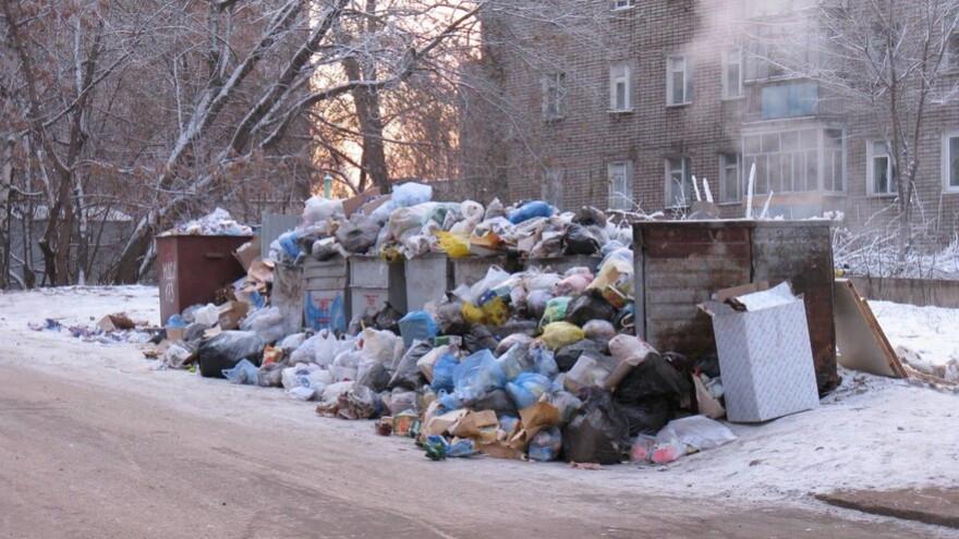 Из-за морозов рабочим на Ямале придется «вручную» очищать переполненные мусорные баки