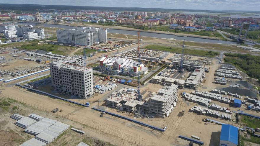 На каком этапе строительство жилых домов в Салехарде