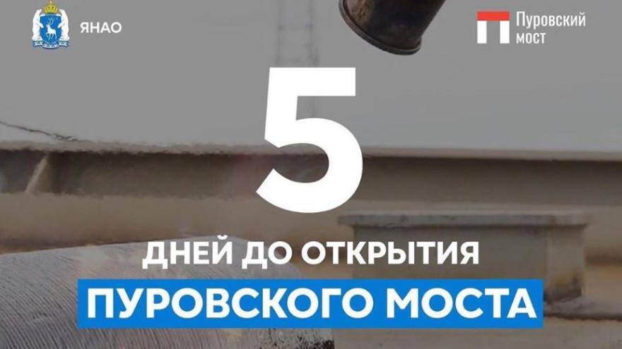 Осталось 5 дней до открытия Пуровского моста