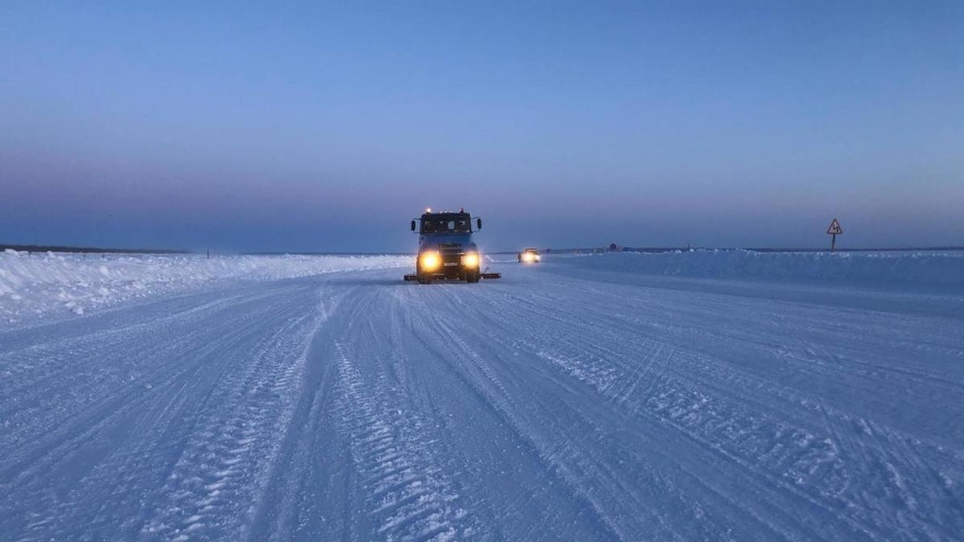 Из-за сильных морозов на Ямале закрыли один из зимников