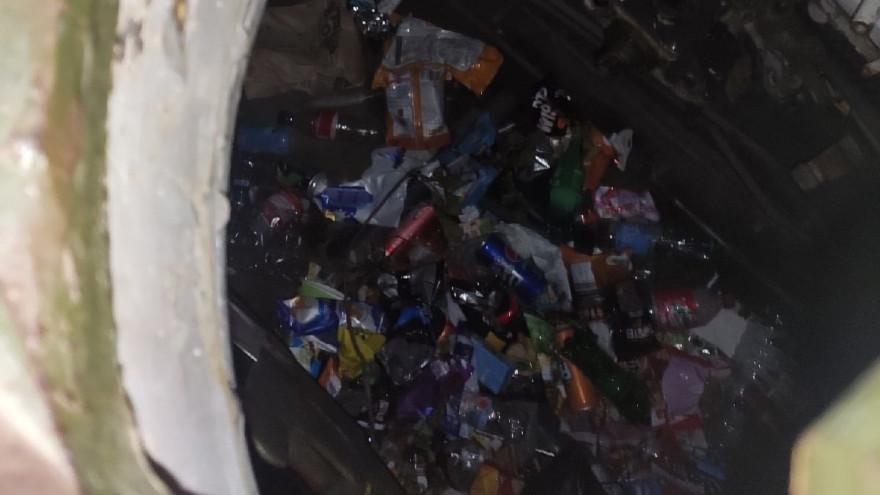 Танк на Площади Победы в Лабытнанги превратили в «мусорку» ФОТО