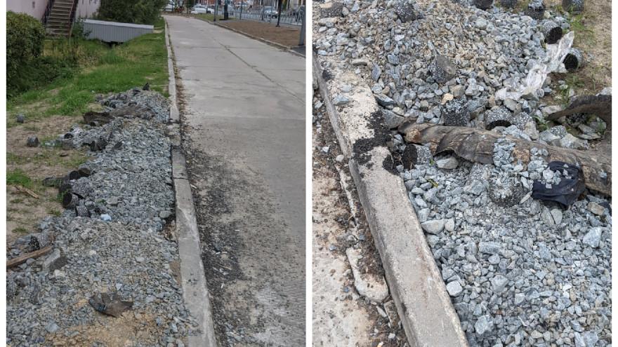 Мусор и сломанный «живой» забор: салехардцы недовольны последствиями дорожного ремонта