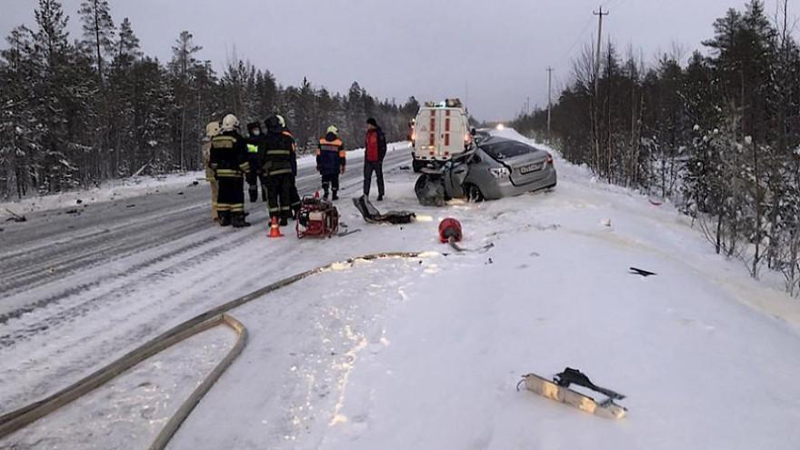На трассе под Ноябрьском произошла страшная автокатастрофа