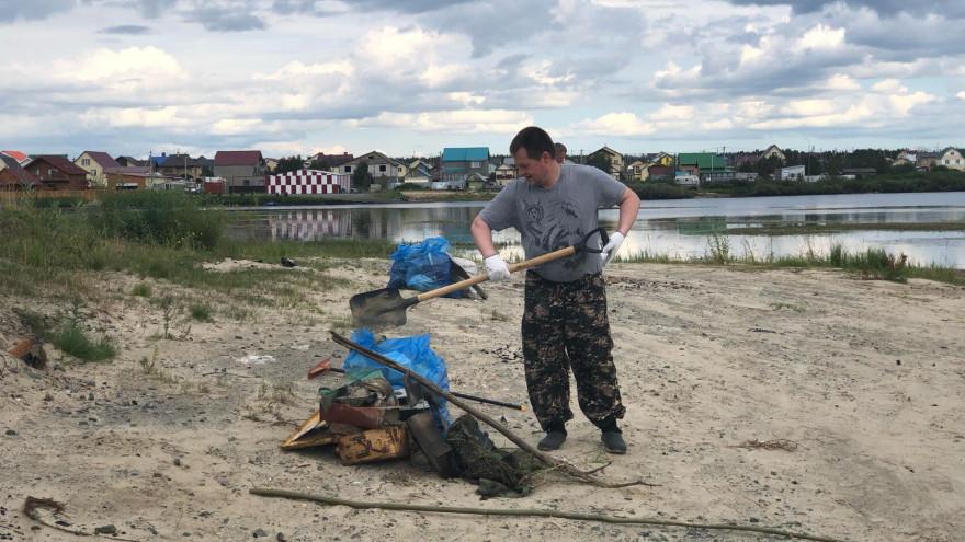 В Салехарде очистили от мусора берег реки Полуй