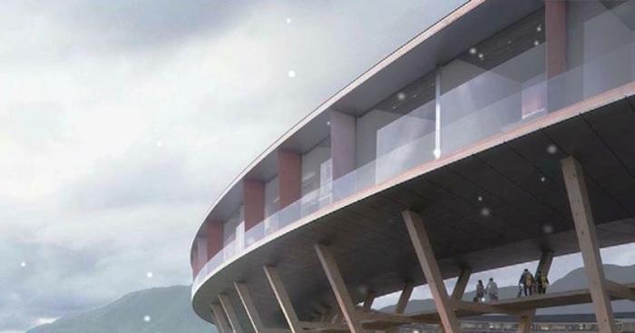 В Норвегии откроется энергосберегающий отель, похожий на НЛО