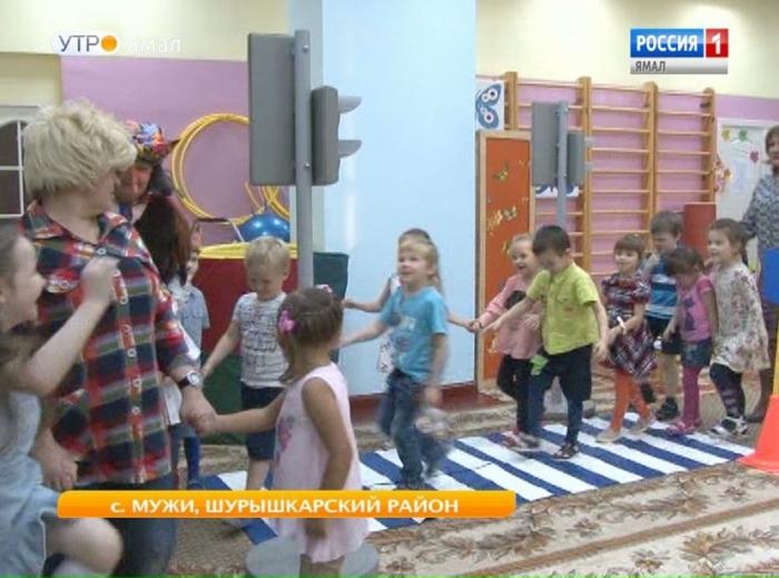 В детском саду «Аленушка» райцентра Мужи появился автогородок
