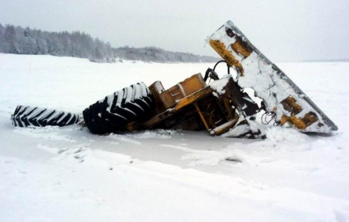 НаЯмале при строительстве зимника умер тракторист