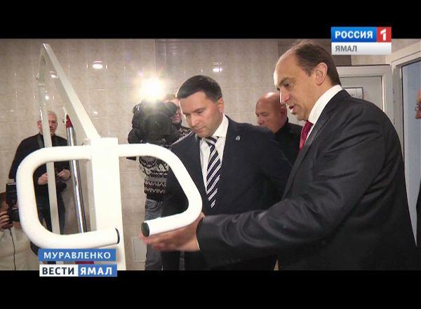 Открытие нового спорткомплекса в Муравленко