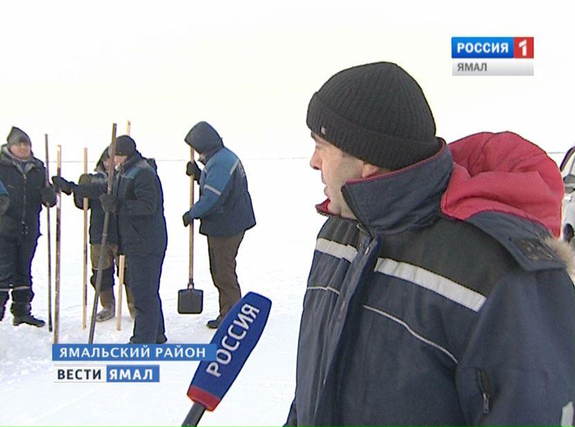 Началось облагораживание автозимника «Аксарка— Салемал— Панаевск— Яр-Сале»
