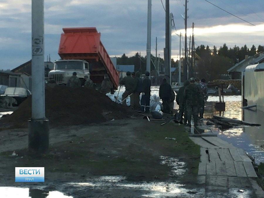 Водном израйонов Ямала введен режимЧС из-за разлива реки