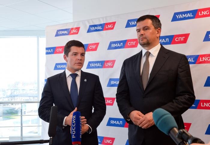 Максим Акимов и Дмитрий Артюхов обсудили строительство Северного широтного хода и его продолжения