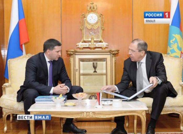 Лавров наградил губернатора Ямала замеждународные связи