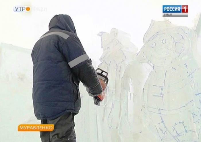 Зимняя сказка в Муравленко обретает черты