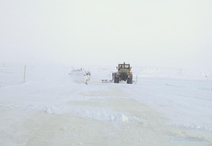 Движение по ледовой переправе Салехард-Лабытнанги открыто для автомобилей массой до 20-ти тонн