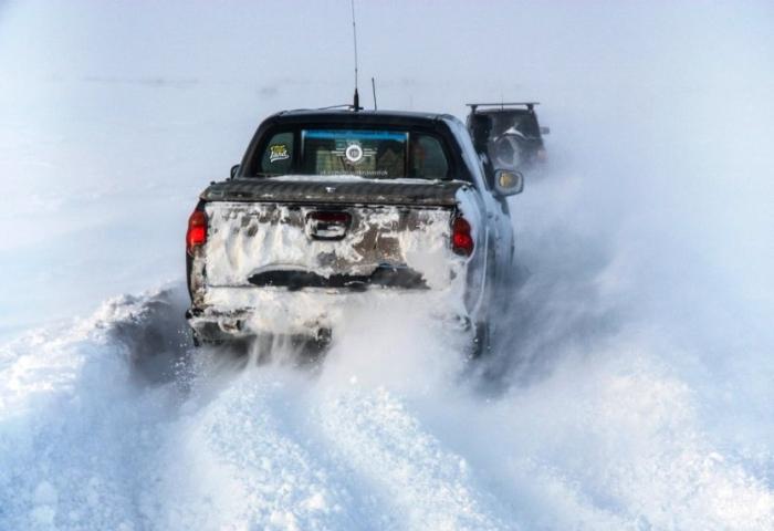 На зимней автодороге Аксарка - Яр-Сале повысили тоннаж