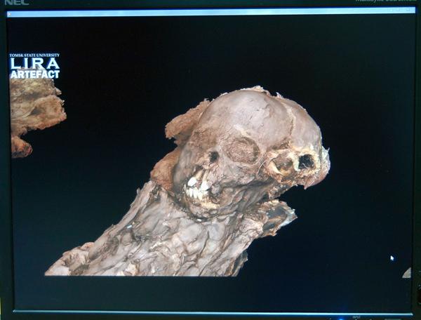Томские ученые создали 3D-модель мумии ребенка XIII века