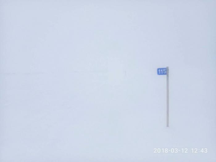 Сегодня на Ямале из-за метели закрывают одну из зимних автодорог
