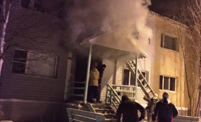 В Губкинском произошел пожар в жилом доме. Погиб человек